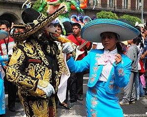 """Mexico City Alebrije Parade - Folk dance group """"Aguas Vivas"""" at the 2009 parade"""