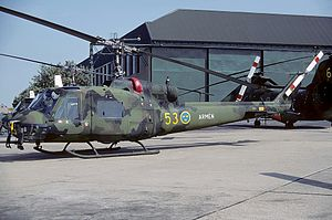 Structure of the Swedish Armed Forces in 1989 - Swedish Army Aviation Bell 204C in 1984