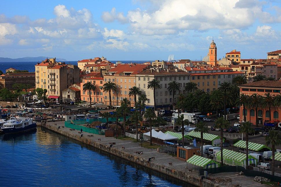 The center of Ajaccio