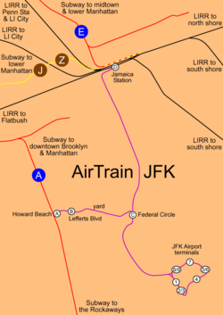 how to get from jfk to newark by train
