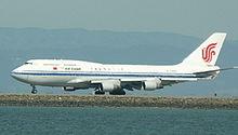 Un Boeing 747-400M della Air China.