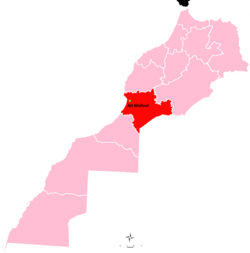 Location of Ait Melloul