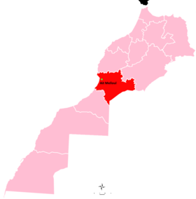 Ait Melloul in Souss-Massa region locator map.png