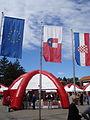 Akcija Kupujmo hrvatsko 2013, Čakovec - zastave.jpg