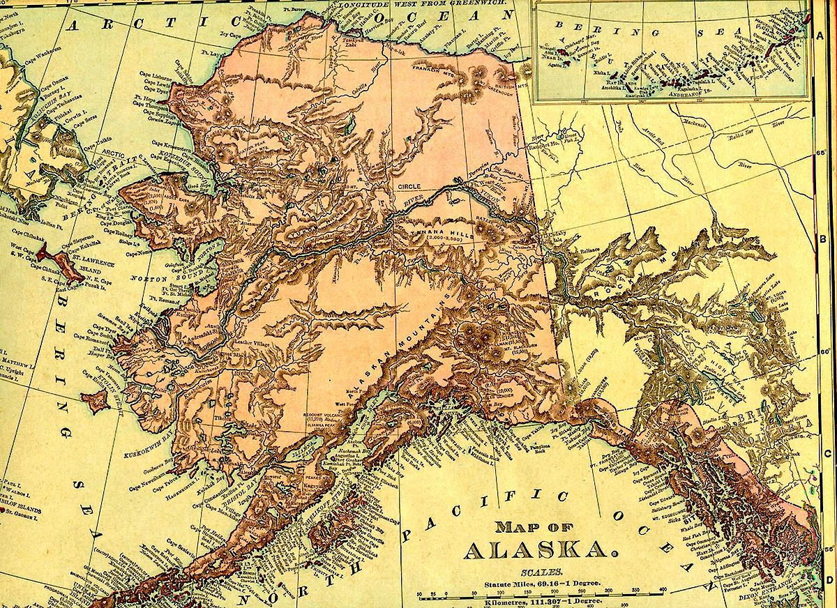 History Of Alaska Wikipedia - Us map and alaska