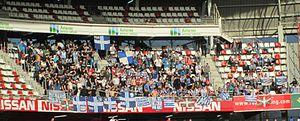 2013–14 Segunda División - Alavés fans attending at El Molinón in February 2014.