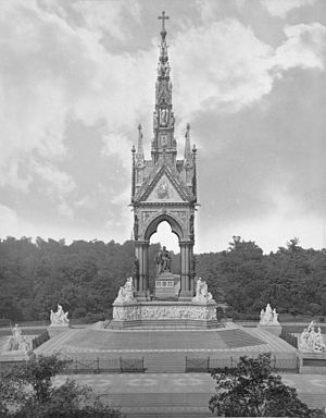 Albert Memorial - Albert Memorial, shortly after its construction, albumen print, ca. 1876