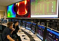 Alcator C-Mod graduate students in control room.jpg
