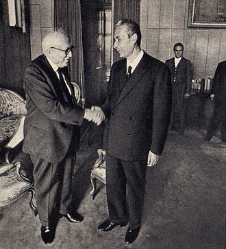 Aldo Moro - Aldo Moro with the Socialist leader Pietro Nenni.
