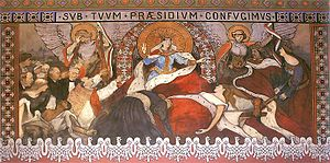 Partitions of Poland - Włodzimierz Tetmajer, Allegory of Dead Poland, St. Nicholas Cathedral, Kalisz