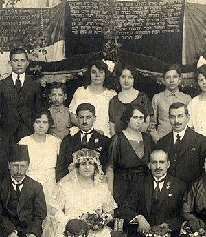 History of the Jews in Syria - Jewish wedding in Aleppo, Syria, 1914.