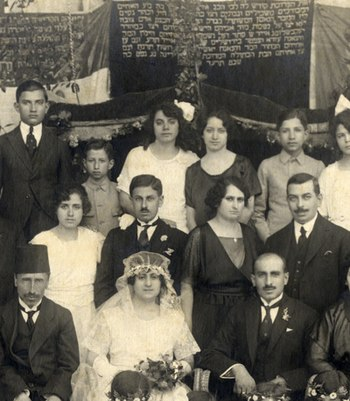 Jewish wedding in Aleppo, Syria, 1914.