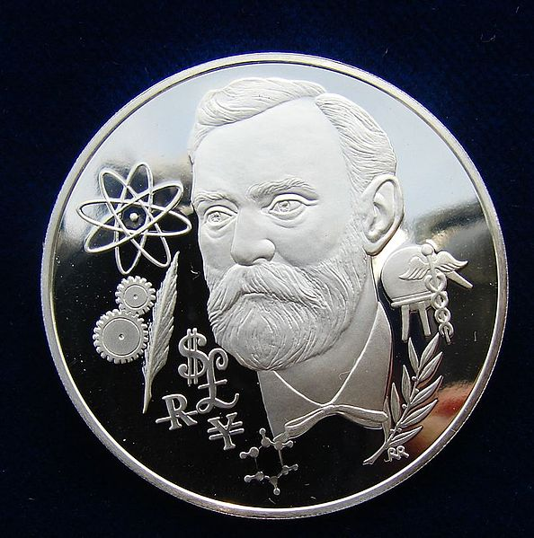 File:Alfred Nobel Medal 1975 by Richard Renninger.jpg