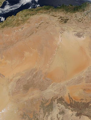 Geography of Algeria -  Satellite Map of Algeria
