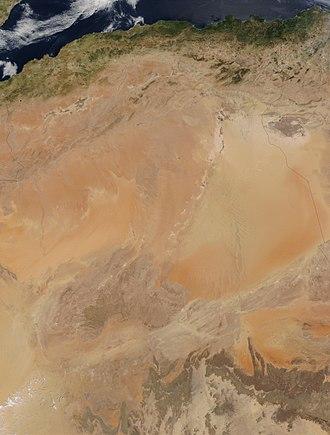 Geography of Algeria -  Satellite Map of Algeria