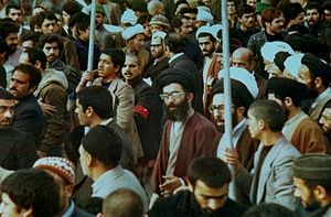 Ali Khamenei - Khamenei in a protest during Iranian Revolution in Mashhad