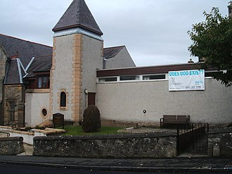 Alpha course - The Alpha course being advertised at a church in South Queensferry, Edinburgh
