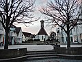 Altbach mit Blick auf die Christuskirche (1959 an der Stelle der mittelalterlichen Ulrichskirche erbaut) - panoramio.jpg