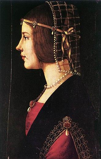 Giovanni Ambrogio de Predis - Image: Ambrogio de Predis Portrait of a Woman WGA18378