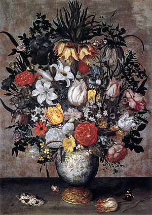 Ambrosius Bosschaert (I) - Flowers in a Chines...