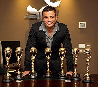Amr Diab - Amr Diab with his 7 World Music Awards