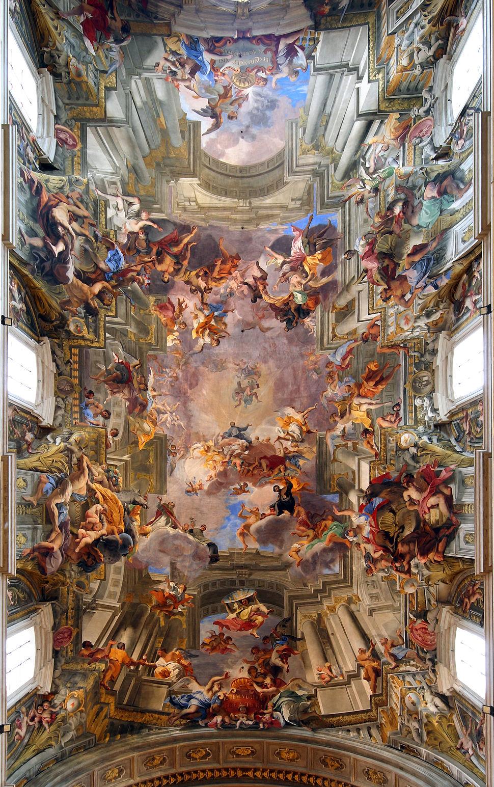 Andrea Pozzo - Apoteose de Santo Inacio