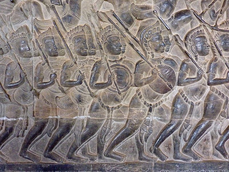 File:Angkor Wat - 056 Mahabharata Warriors (8580594981).jpg