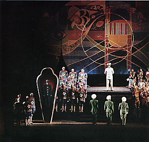 Aniara (opera) - Premiere production at the Royal Swedish Opera, May 1959. Set by Sven Erixson.