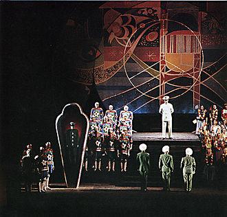 Aniara (opera) - Premiere production at the Royal Swedish Opera, May 1959. Set by Sven Erixson.