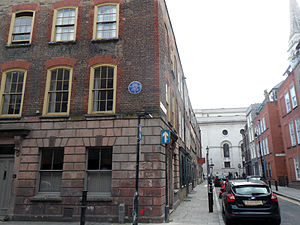 Anna Maria Garthwaite - 2 Princelet Street Spitalfields London E1, with plaque
