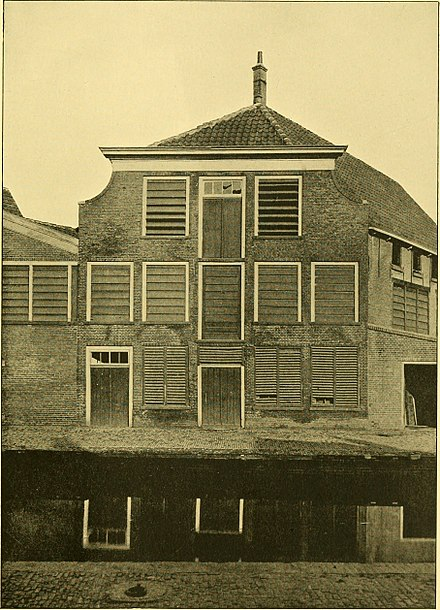 "van Leeuwenhoek's birth house in Delft, in the Netherlands, in 1926 before it was demolished Antony van Leeuwenhoek and his ""Little animals""; being some account of the father of protozoology and bacteriology and his multifarious discoveries in these disciplines; (1932) (19122164704).jpg"