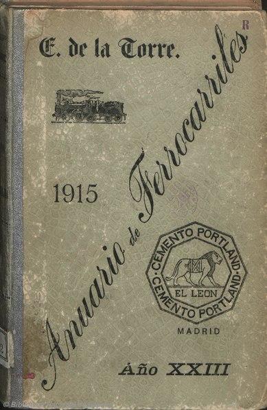 Anuario de ferrocarriles españoles. 1915