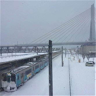 Aoimori Railway Line - Aoimori Railway 701 series EMU at Aomori Station during the winter