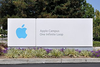 Apple Campus - Entrance sign on Infinite Loop