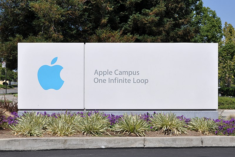 Ficheiro:Apple Campus One Infinite Loop Sign.jpg