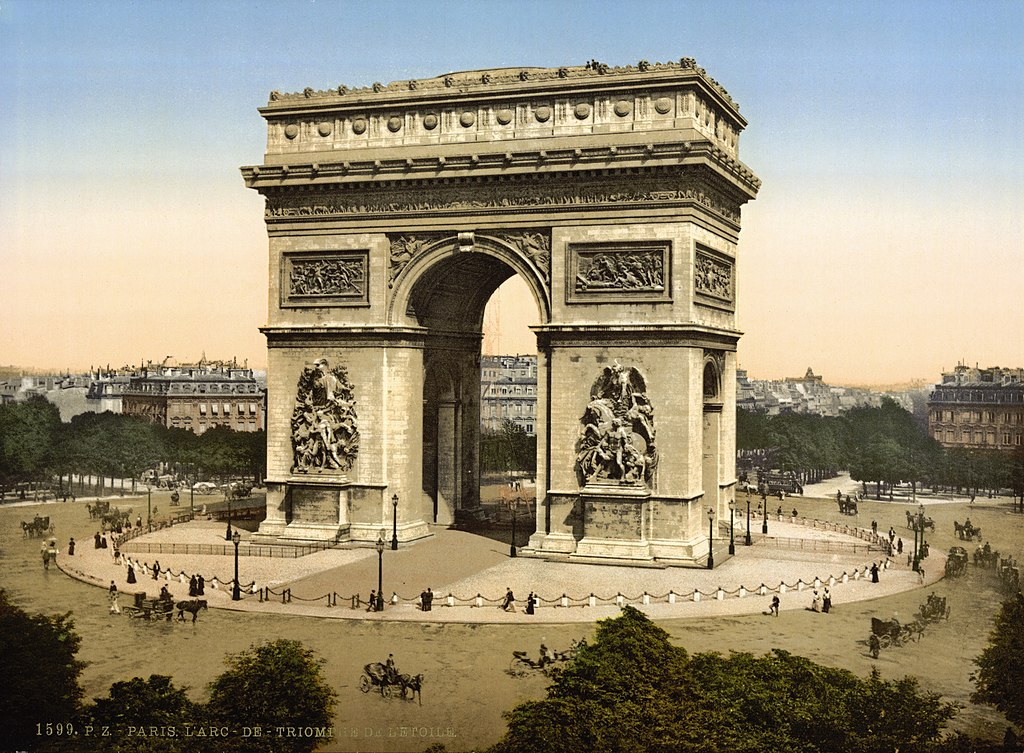 file arc de triomphe de l 39 etoile paris france ca 1890. Black Bedroom Furniture Sets. Home Design Ideas