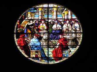 Guillaume de Marcillat - stained glass window in The Basilica of San Francesco, Arezzo, Italy, by Guillaume de Marcillat