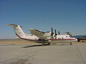 De Havilland Canada Dash 7 - U.S. Army Airborne Reconnaissance Low RC-7B (later EO-5C) at the Mojave Airport in 2001