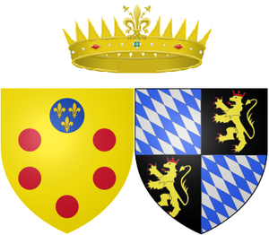 Duchess Violante Beatrice of Bavaria - Arms of Violante Beatrice as Grand Princess of Tuscany
