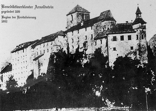 Arnoldstein Benediktinerkloster Foto um 1880 20072012 153