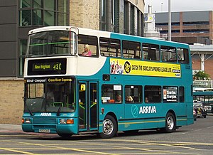 Arriva North West and Wales - A DAF DB250/Northern Counties Palatine II. This bus is now under the control of Arriva North West
