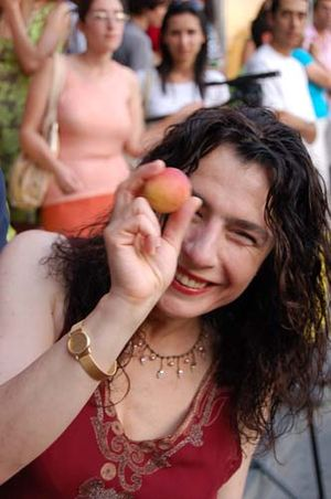Arsinée Khanjian - Arsinée Khanjian at the Third Golden Apricot Film Festival at Yerevan, Armenia.