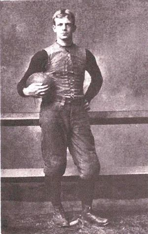 "Arthur Cumnock - Portrait of Cumnock from Walter Camp's 1894 book ""American Football"""