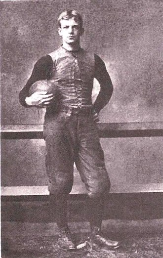 "Arthur Cumnock - Portrait of Cumnock from Walter Camp's 1894 book ""American Football"""