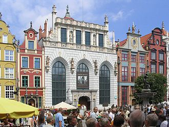 Warsaw Stock Exchange - Artus Court in Gdańsk was home to the oldest Polish mercantile exchange, established in the 14th century