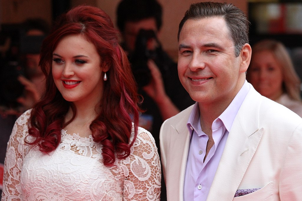 Ashleigh and David Walliams (the voice of Pudsey in the movie)