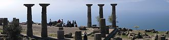 Assos - Temple of Athena in Assos, overlooking the Aegean Sea.