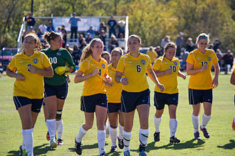 Texas A&M–Commerce Lions - The TAMUC women's soccer team in 2014