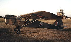 Taylorcraft Auster - Auster I converted postwar to Taylorcraft Plus D, restored in wartime markings as LB382 of 653 Squadron RAF