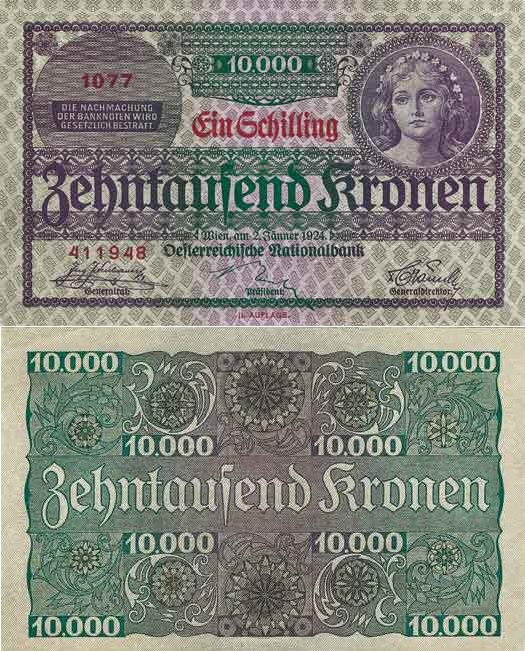 Austria 1 S 1924 - 11.5.25-31.12.26